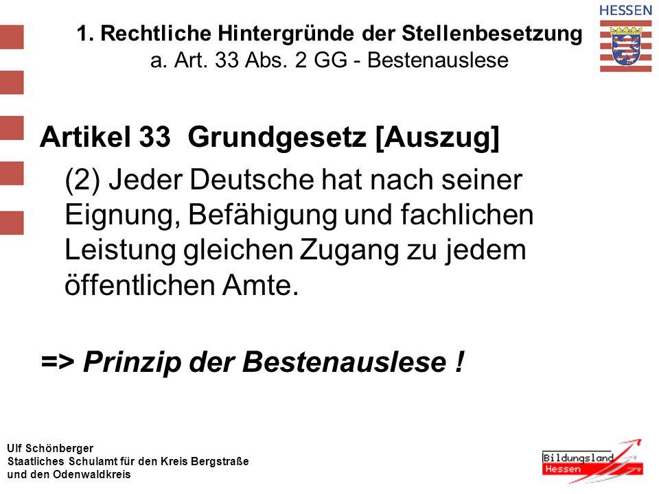 Artikel 33 Grundgesetz [Auszug]